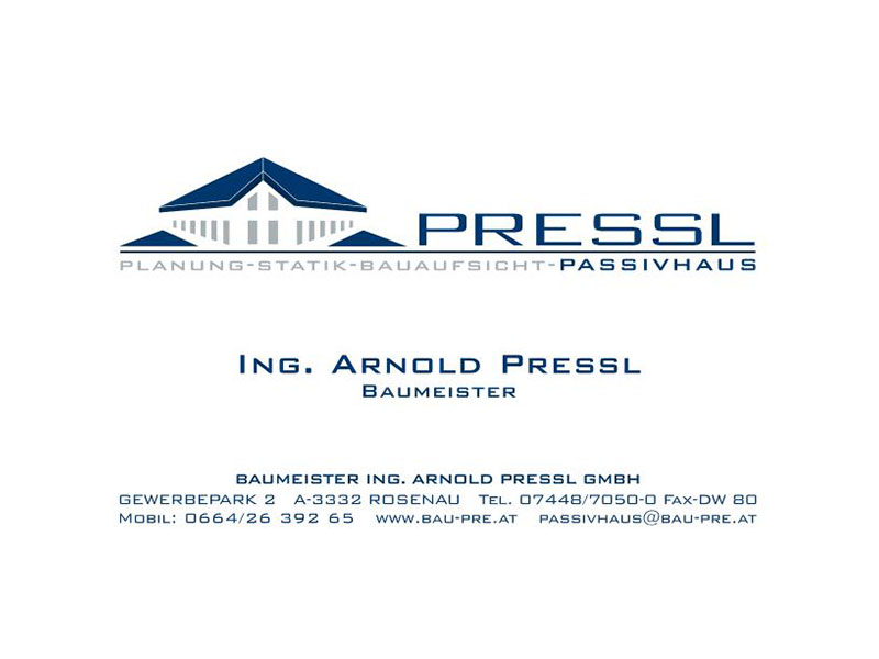 Unser Partner BM Ing. Arnold Pressl