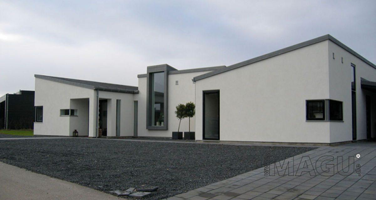 Modernes Haus als Bungalow bauen bei Abfalter Bau mit dem Magu Bausystem