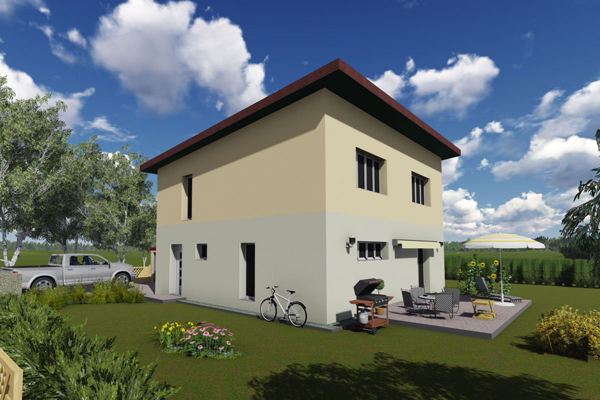 Musterhaus Kompakt 135 - Massivbau mit Magu-Bausystem